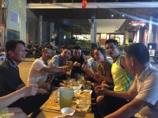 Drinking with locals in Hanoi
